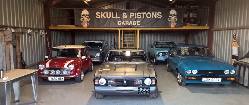 Skull and Pistons - Classic British Customs